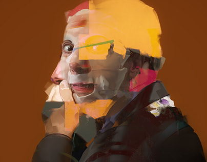Interview with Dr. Faust. Digital Paintings.