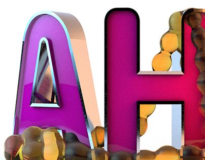 AH! 3D Lettering