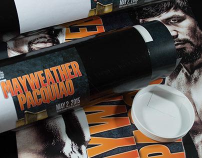 Mayweather VS. Pacquiao Poster Invitation 2015