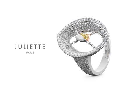 Juliette Paris luxury jewelry advertisement