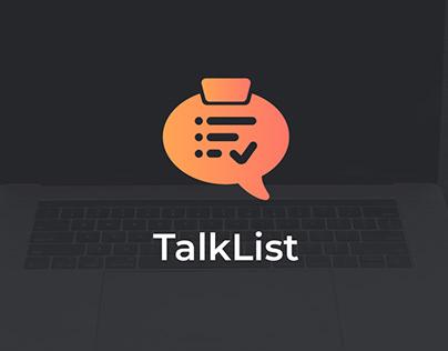 TalkList Logo Presentation