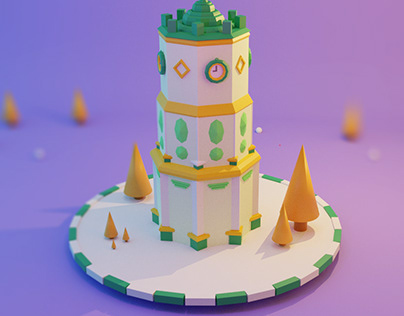 The Saat Square low poly 3d
