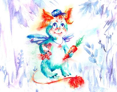The little monster illustration