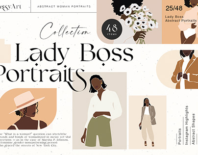 Lady Boss Abstract Portraits