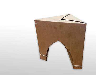 Chester Cardboard Flatpack Stool