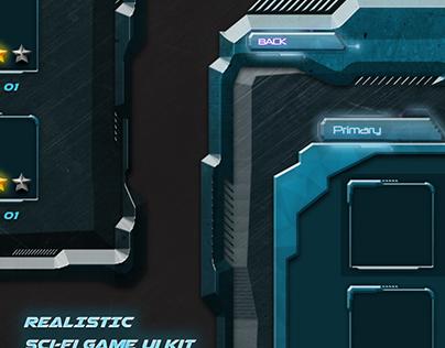 Realistic Sci-Fi Game UI
