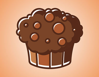 Flat Logo Cake\Mafin Icon. Colorful Vector Illstr.