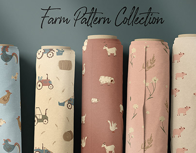 Farm seamless pattern collection