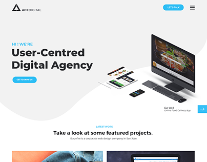 Ace Digital Agency Web UI