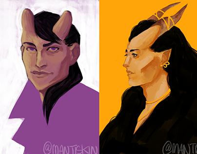 Personal Project - Demon Portraits