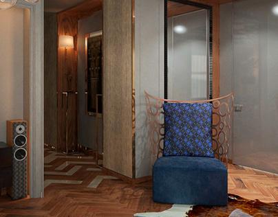 Modern interior with art deco elements