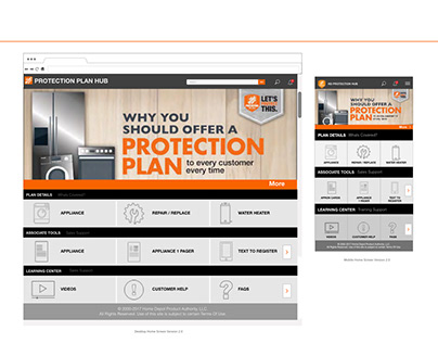 HD Protection Plan Portal Redesign