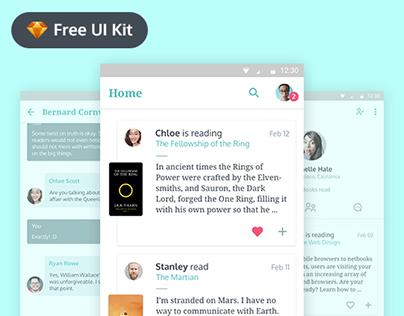 Bookshelf - Free UI Kit