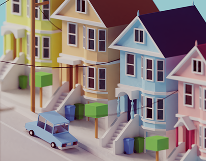 Low Poly San Francisco