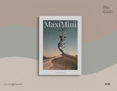 Free Demo Minimalist Magazine Mockup