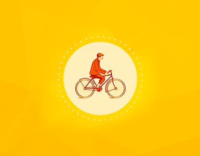 Bicycle advetisement gamification startup mobile app