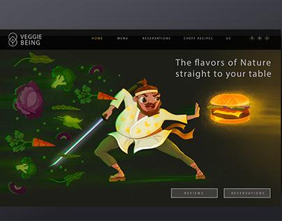 Illustration project for restaurant website