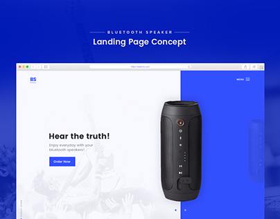Product Landing Page Concept | Bluetooth Speaker