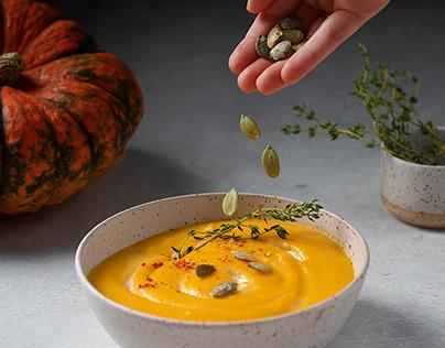 Pumpkin soup - food photography