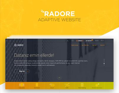 Radore Adaptive Website by SHERPA