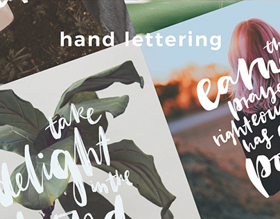 Hand Lettering, Modern Calligraphy