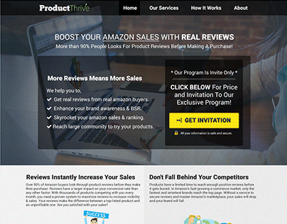 Landing Page Design For Amazon Product Review