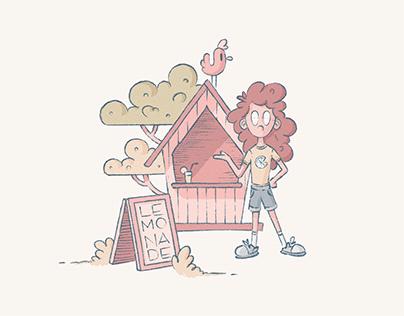 The lemonade stand – Illustrazione (2021)