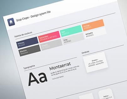 StopClope Design Système Lite