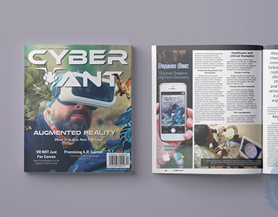 Cyber Ant: Magazine Layout Design