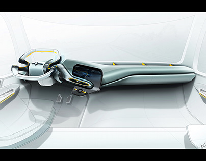 Renault Carrier - Semi autonomous semi truck interior