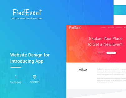 FindEvent Website Design