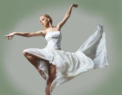 Windy White Ballerina
