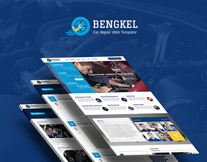 Bengkel - Modern Auto Car Repair Business Template
