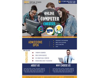 Download Online Computer Course Flyer Design Ai Templat