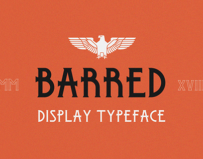 Barred Typeface