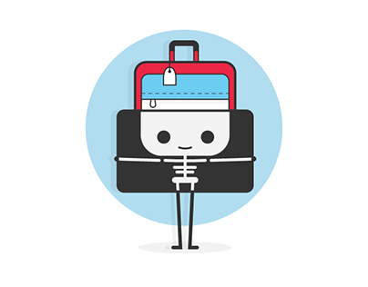 Suitcase character design