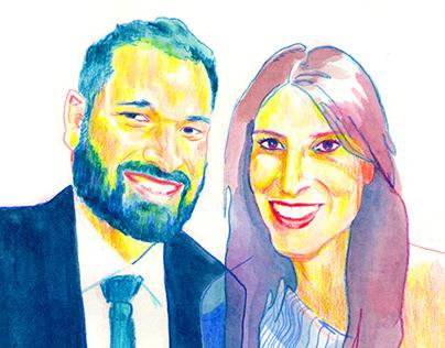 Núria y David - retratos de boda