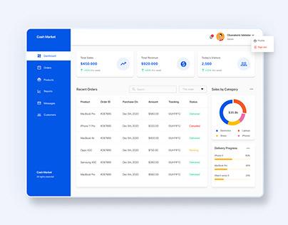 E-Commerce Admin Dashboard