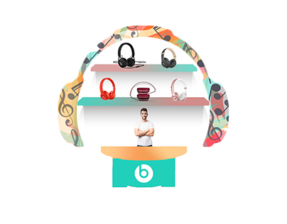 3d model pose for Beats Electronics