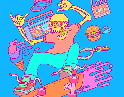Skateboarding Cool Design. (tshirt-Prints)