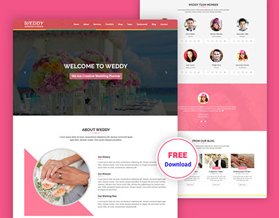 Wedding Planner Free PSD Template