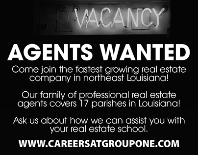 Real Estate Recruiting B/W ad