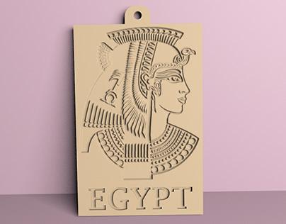 Cleopatra medallion for 3D print
