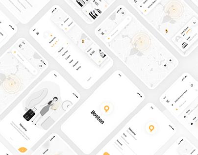 Boston TAXI booking Mobile app Design