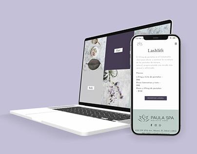 Web Design - Paula Spa