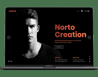 Norto - Minimal & Creative Portfolio HTML Template