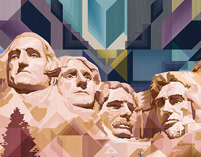 """""""Standing Watch"""" Mt. RushmorewithDakota Star"""