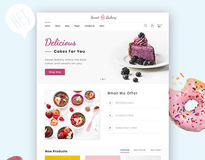 Sweet Cake Website Design Concept