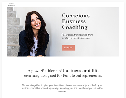 All of Her Business - Web Design