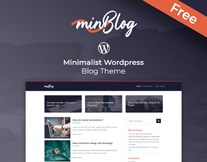 minBlog - Free Minimalist Wordpress Blog Theme